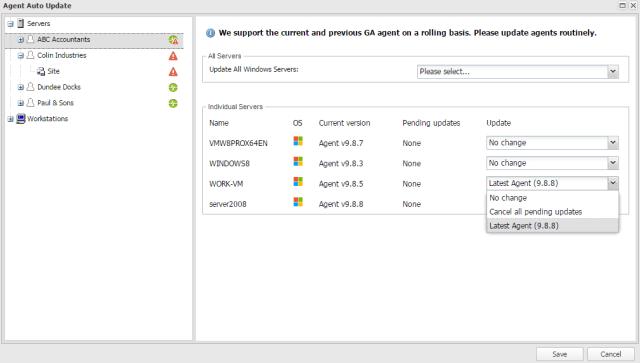 agent auto update screenshot