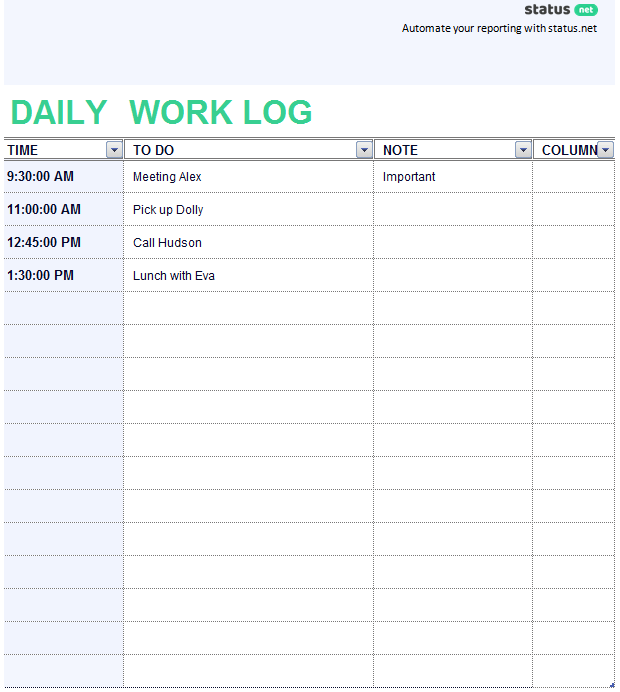 Prosperforms — set up a form and start receiving submissions from your colleagues in minutes. 2 Easy To Use Daily Work Log Templates Free Download