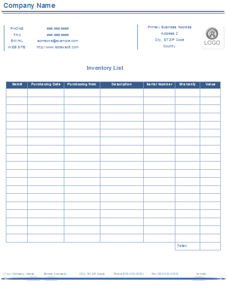 Inventory on the balance sheet accounts for a company's unsold goods or merchandise. Beginners Guide To Creating An Inventory Form Free Sample Sheet Template