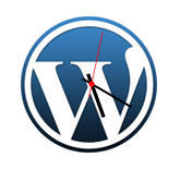 Image #5: CoolClock widget on WordPress logo