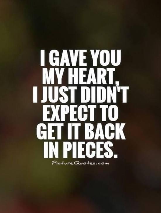 Broken Heart Whatsapp dp
