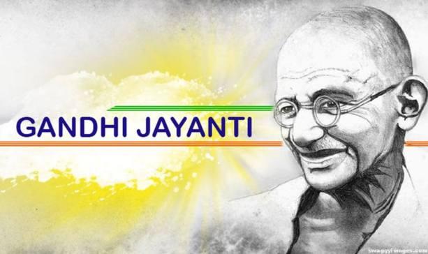 Happy Gandhi Jayanti sms wishes
