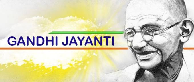 Happy Gandhi Jayanti sms wishes