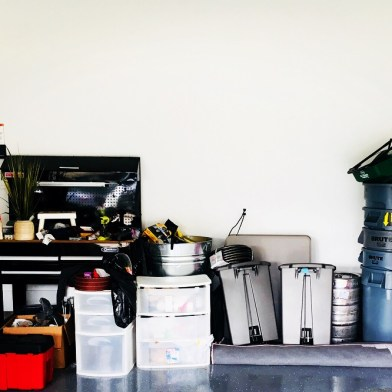 Garage 1: Before, back wall