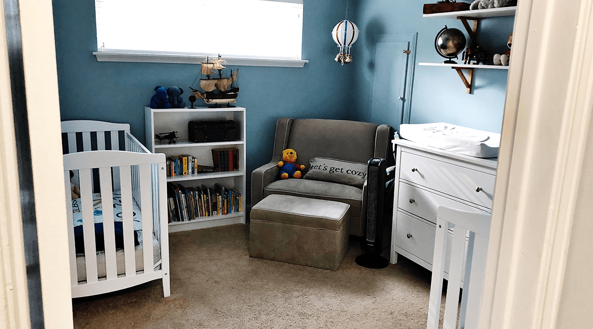 Travis & Richelle's Organized Baby Room