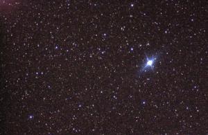 Imagem de Canopus, conforme tomada pelos tripulantes