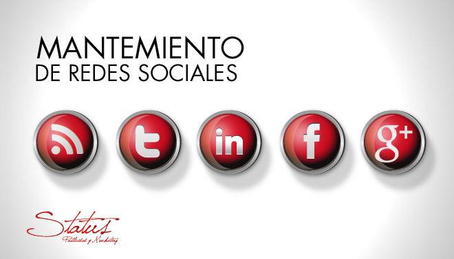 Mantenimiento de Facebook, Twitter, LinkedIn, Blog