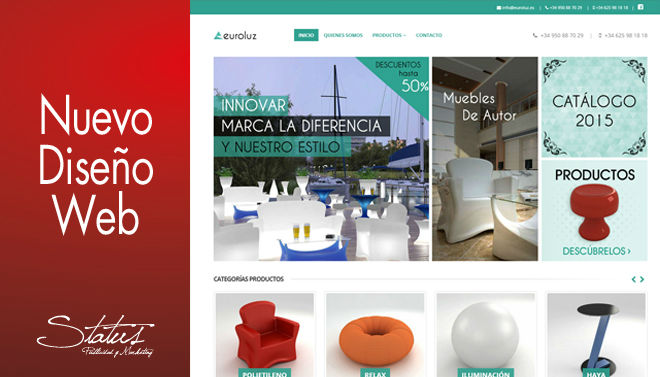 Diseño web con productos