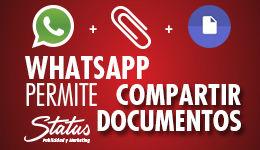 Whatsaap permite enviar documentos