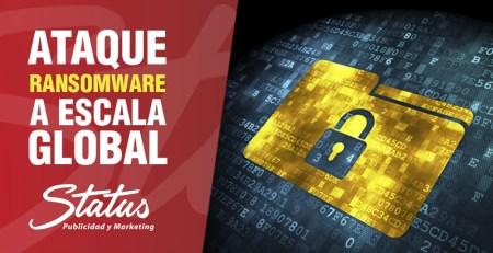 Ataque ransomware a escala mundial