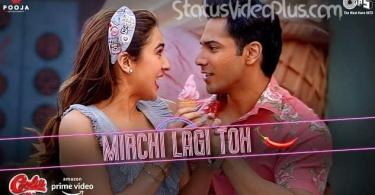Mirchi Lagi Toh Song Coolie No.1 Download Whatsapp Status Video
