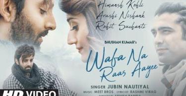 Wafa Na Raas Aayee Song Jubin Nautiyal Download Whatsapp Status