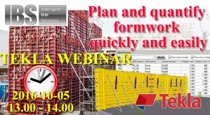 TEKLA WEBINAR Plan and quantify formwork quickly and easily