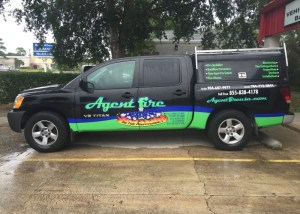 agent fire partial vehicle wrap