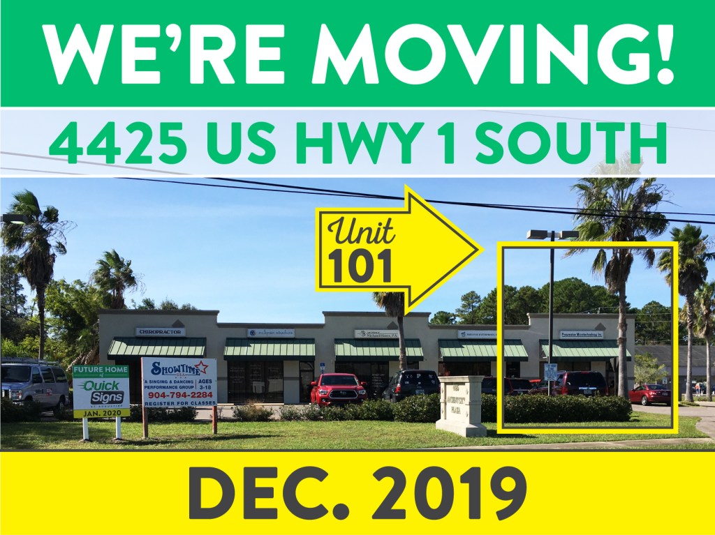 Quick Signs is moving to 4425 US HWY 1 South in December 2019