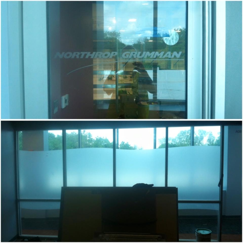 northrup gruman frosted glass window film