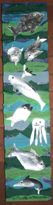 Fish Panels - made by the congregation