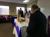 The hymnals at the altar.