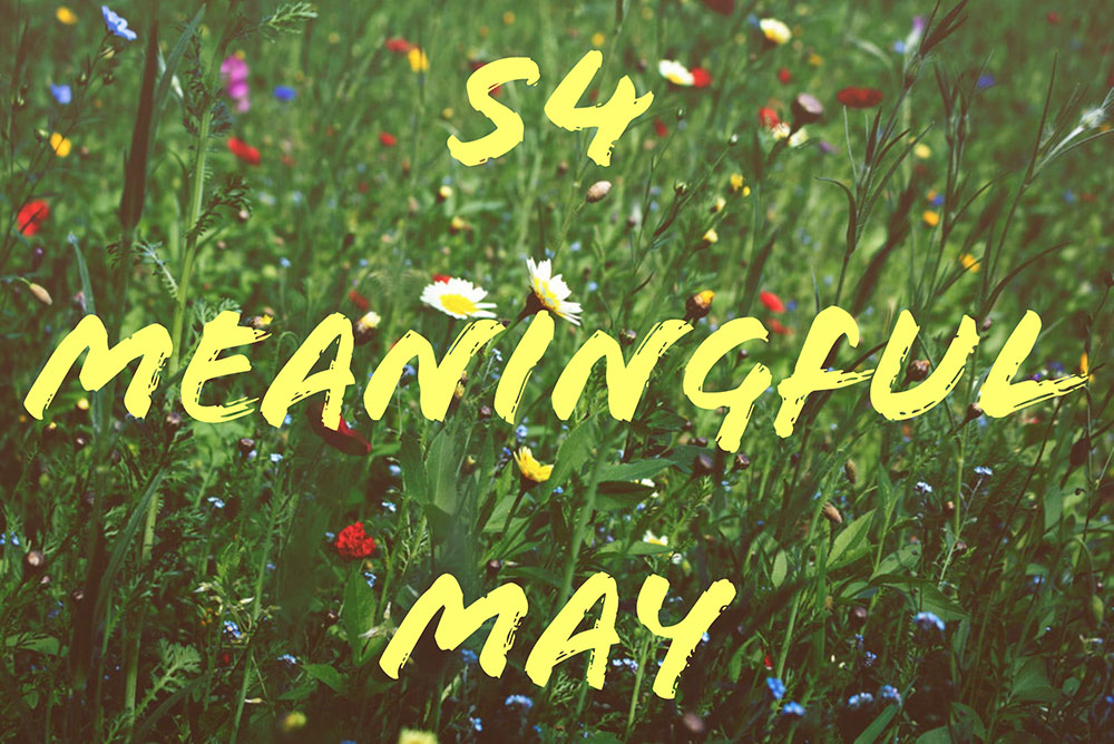 Meaningful May Poster with Spring flowers