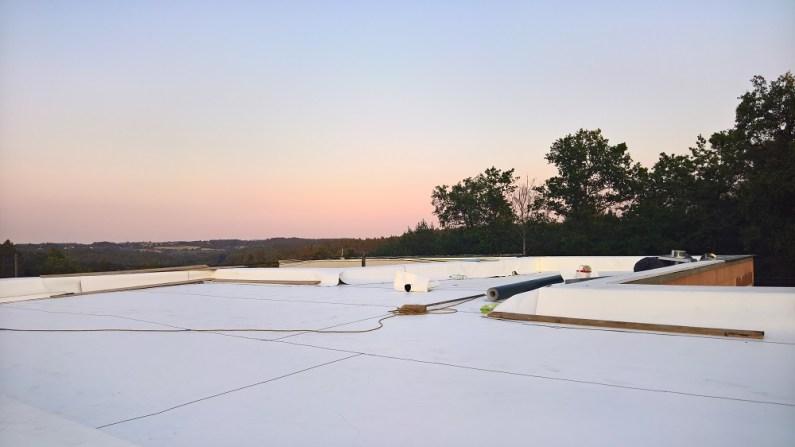 TPO fólie v ploše střechy
