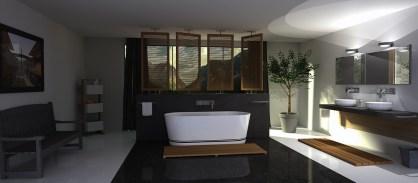Velká moderní koupelna