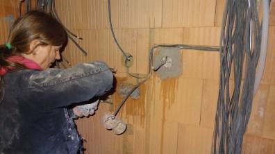 Sádrování elektroinstalačních krabic