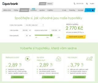 Hypoteční kalkulačka Equa Bank