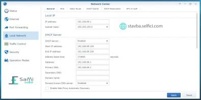 Nastavení lokální sítě na Synology RT2600ac