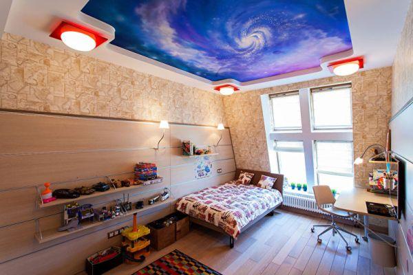 Натяжные потолки фото двухуровневые для детской – фото для ...