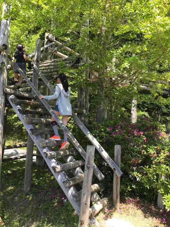 ロマンの森共和国 フィールドアスレチック 岩登り