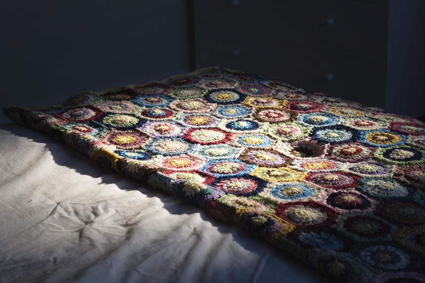 Wool blanket in the sun