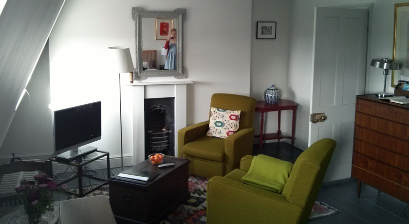 Living room at an Airbnb Brighton