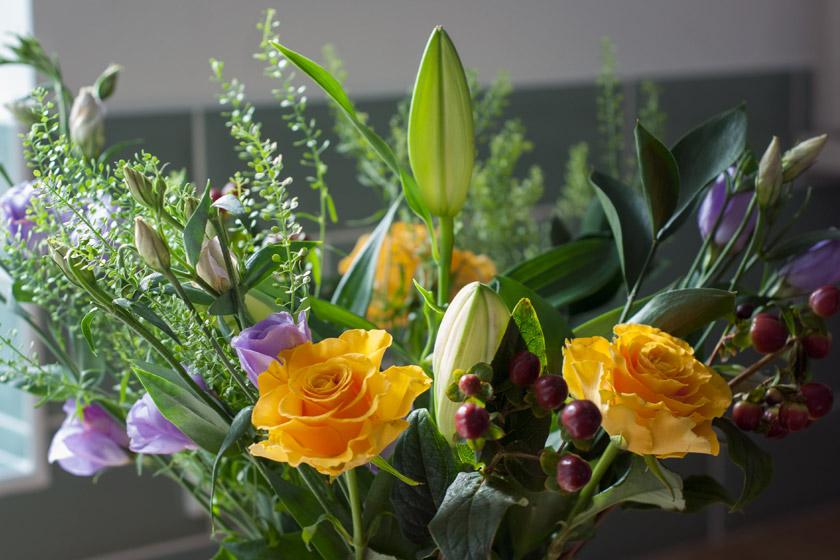 Autumn colour bouquet