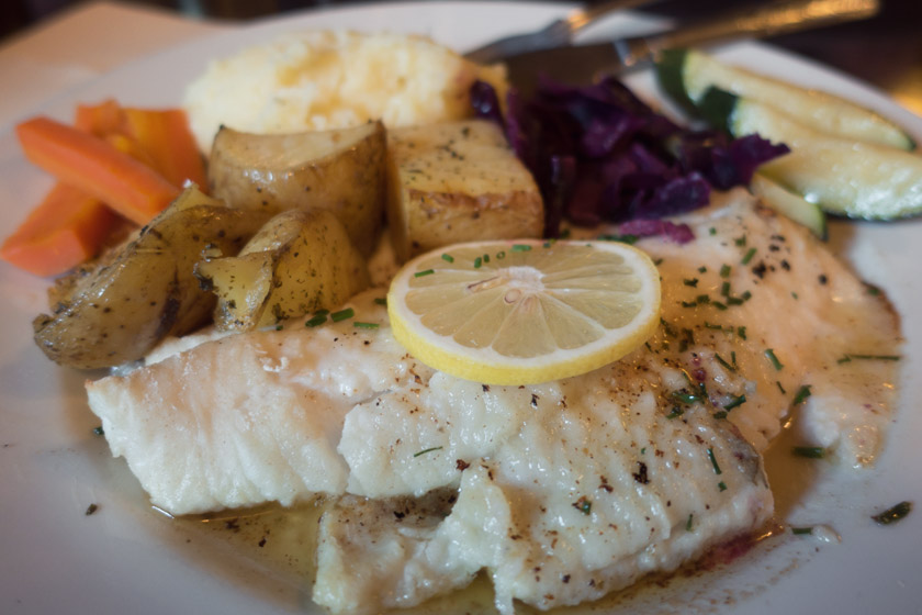 Baked cod and potatoes
