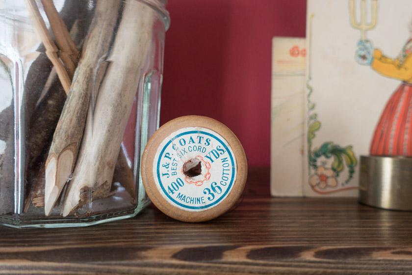 Wooden cotton spool