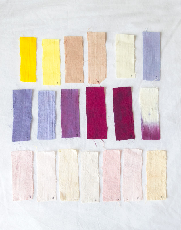 Natural fabric colours