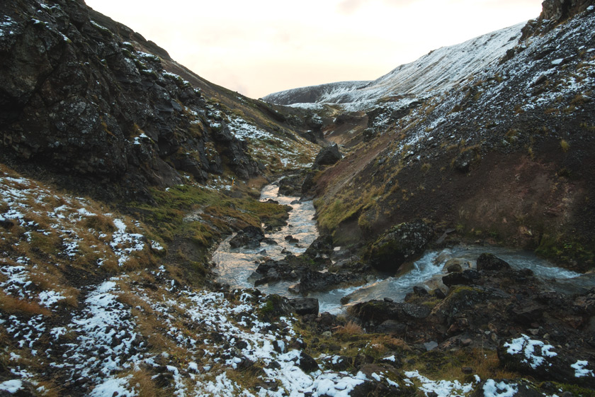 Rock valley and stream