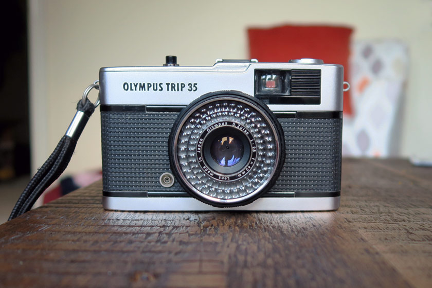 Front view of Olympus Trip 35