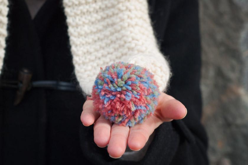 Multicoloured pompom