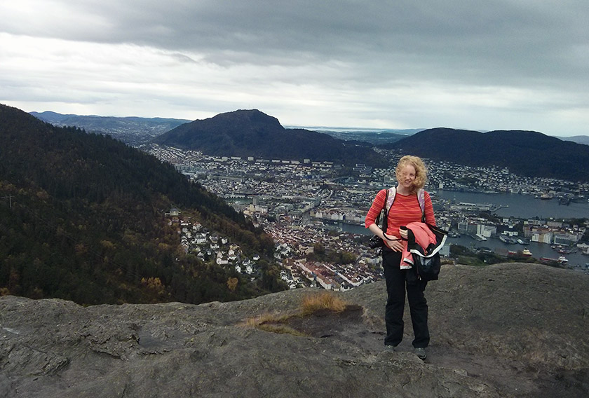 Me standing at the summit of Sandviksfjellet