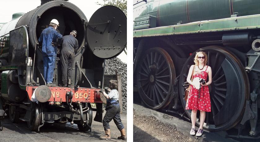 Steam train engine yard