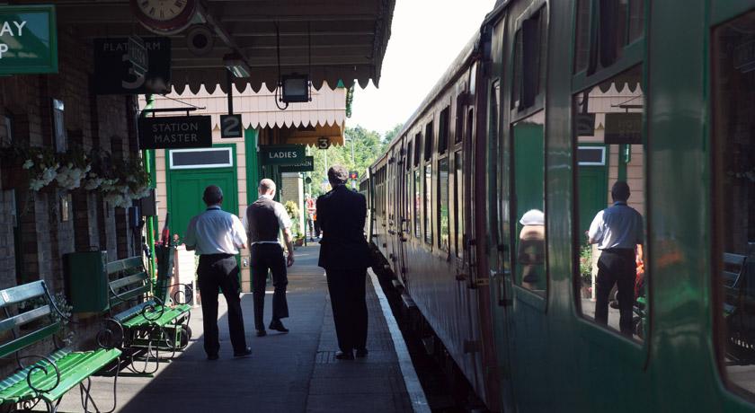 Old train station platform