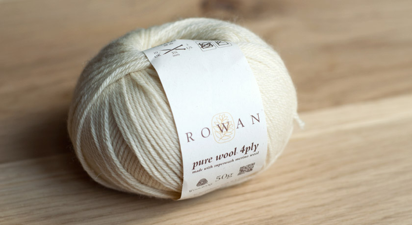 Cream Rowan Pure Wool 4 ply