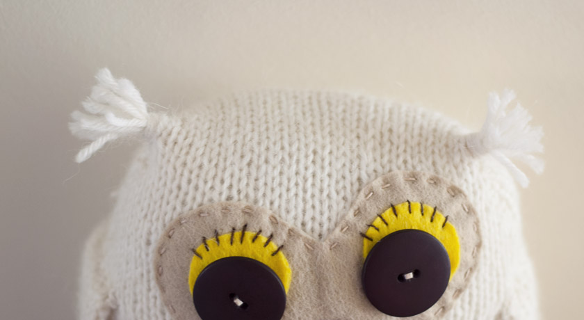 Knitted owl ears