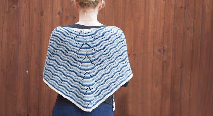 Finished Northmavine Hap in blue