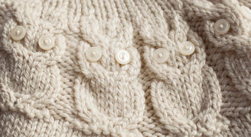 Cream button owl eyes