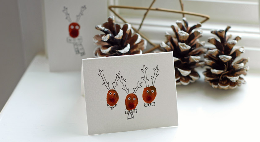 Handmade reindeer card