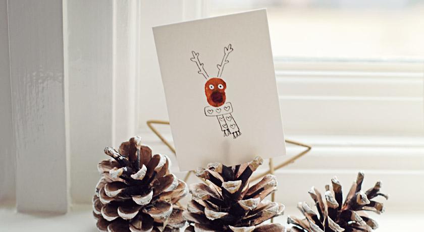 Festive reindeer card