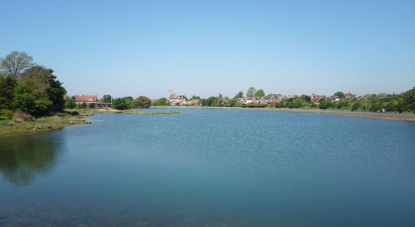 View across Stoke Lake, Gosport