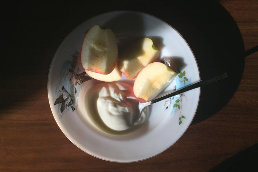 Breakfast bowl in the sun